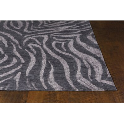 Edison Charcoal/Ivory Area Rug Rug Size: 5 x 7