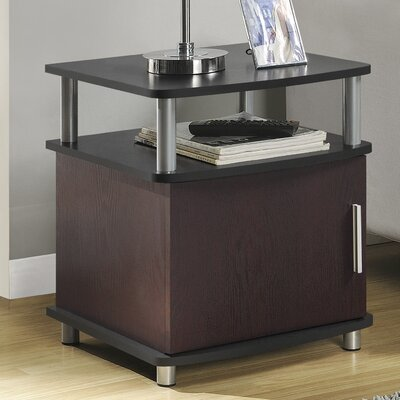 Elian End Table Finish: Cherry / Black