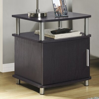 Elian End Table With Storage Color: Espresso