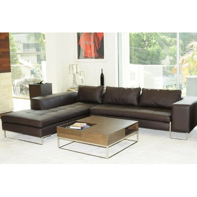 Arya Sectional Upholstery: Brown, Orientation: Left Hand Facing