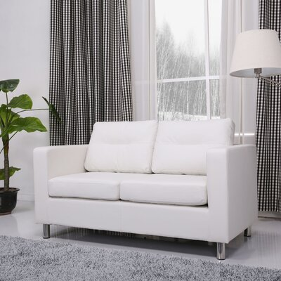 Clarence Loveseat Upholstery: White