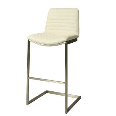 Jalen 29.5 Bar Stool Upholstery: Ivory