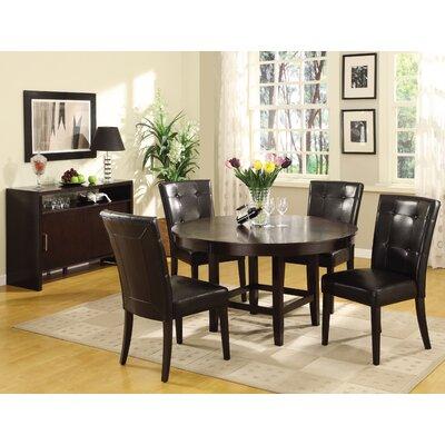 Christensen Side Chair Side Chair Upholstery: Black