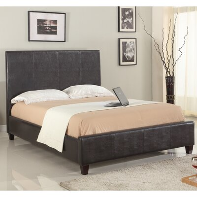 Isa Upholstered Panel Bed Size: Queen, Finish: Chocolate