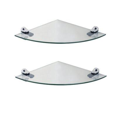 Demilune 2 Piece Glass Wall Shelf Set