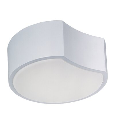 Triton 1-Light Flush Mount Size: 3.5 H x 10 W x 10 D