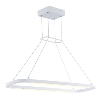 Petrie 2-Light Kitchen Island Pendant Size: 2 H x 32.75 W x 9.5 D
