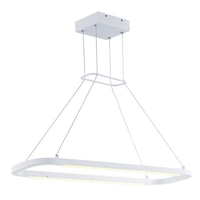 Hadi 2-Light Kitchen Island Pendant Size: 2