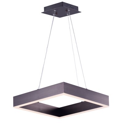 Acamar 1-Light Aluminum Kitchen Island Pendant Finish: Coffee
