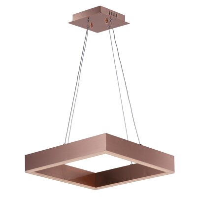 Acamar 1-Light Aluminum Kitchen Island Pendant Finish: Aluminium