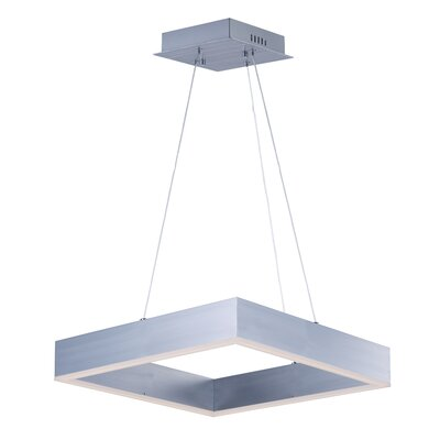 Acamar 1-Light Aluminum Kitchen Island Pendant Finish: Satin Copper