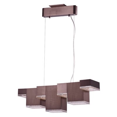 Youngs 7-Light Kitchen Island Pendant Finish: Polished Chrome
