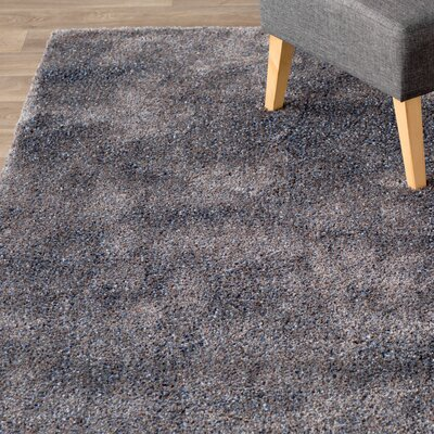 Hurlock Navy/Gray Area Rug Rug Size: Rectangle 92 x 129
