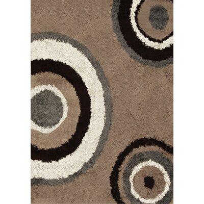 Fabian Beige / Gray Contemporary Rug Rug Size: 66 x 98