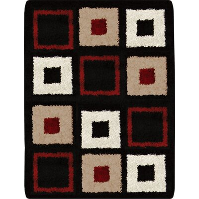 Fabian Black-Red Area Rug