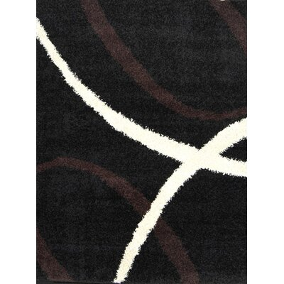 Fabian Black Area Rug Rug Size: 78 x 104