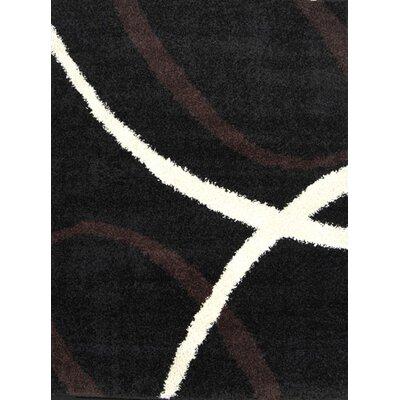 Fabian Black Area Rug Rug Size: 17 x 27