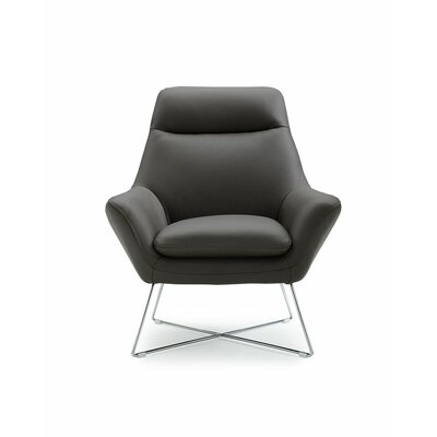 Ishaan Armchair Upholstery Color: Dark Gray