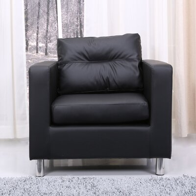 Clarence Armchair Upholstery: Black