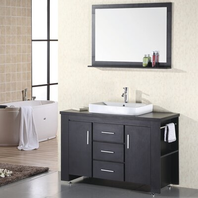 Parsons 48 Single Bathroom Vanity Set with Mirror