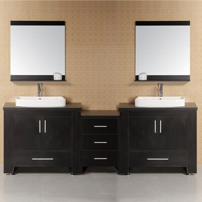 Parsons 96 Double Bathroom Vanity Set with Mirror