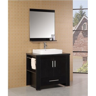 Blaser 36 Single Modern Bathroom Vanity Set with Mirror