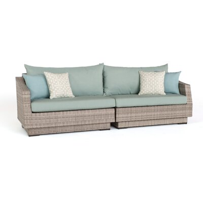 Alfonso 2 Piece Sofa with Cushions Fabric: Spa Blue
