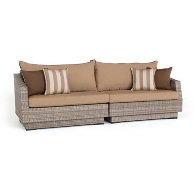 Alfonso 2 Piece Sofa with Cushions Fabric: Maxim Beige