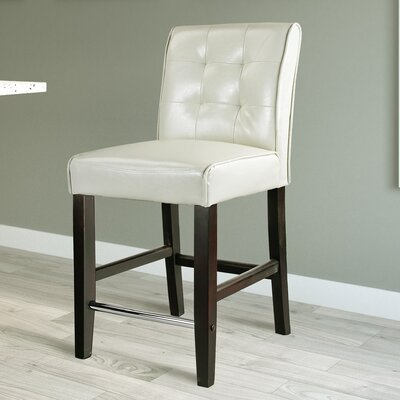 Darchelle 25 Bar Stool Upholstery: Cream White