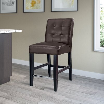 Darchelle 25 Bar Stool Upholstery: Dark Brown