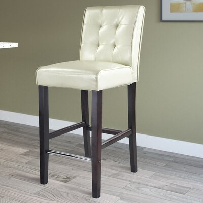 Darchelle 31 Bar Stool Upholstery: Cream White