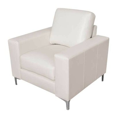 Greysen Contemporary Armchair Upholstery: White