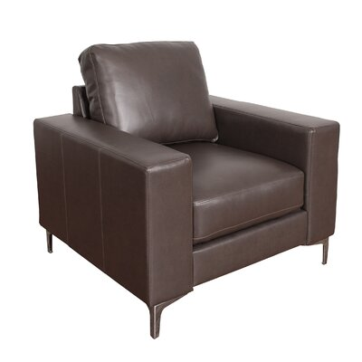 Greysen Contemporary Armchair Upholstery: Brown
