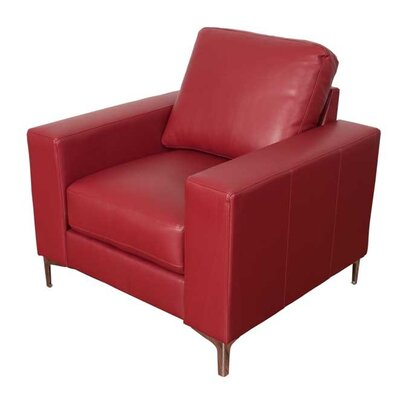 Greysen Contemporary Arm Chair Upholstery: Red
