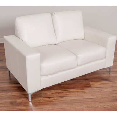 Greysen Contemporary Loveseat Upholstery Color: White