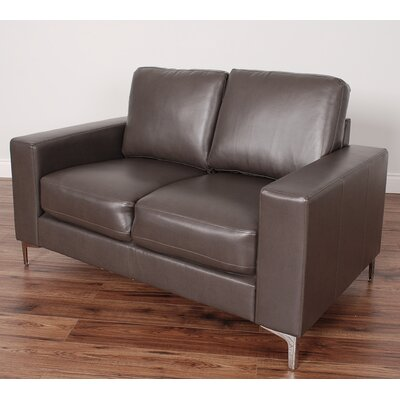 Greysen Contemporary Loveseat Upholstery: Brown