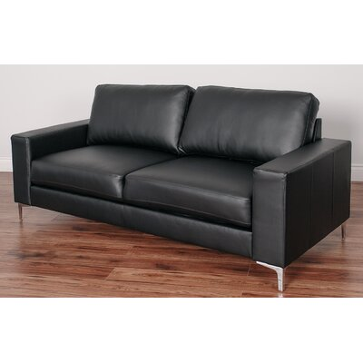Greysen Contemporary Sofa Upholstery: Black