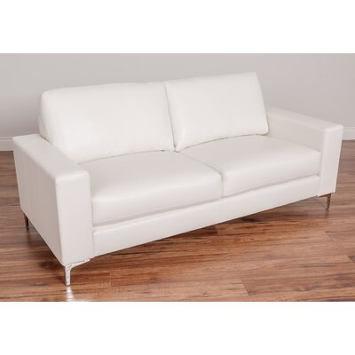 Greysen Contemporary Sofa Upholstery: White