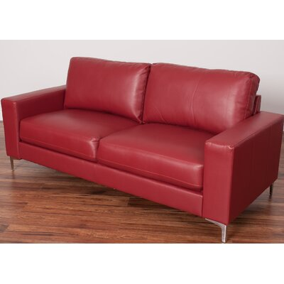 Greysen Contemporary Sofa Upholstery: Red