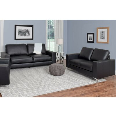 Greysen 2 Piece Sofa Set Upholstery: Black