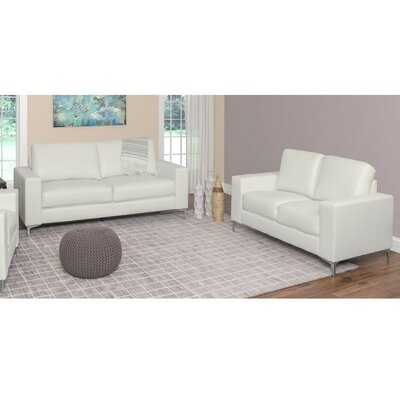 Greysen 2 Piece Living Room Set Upholstery: White