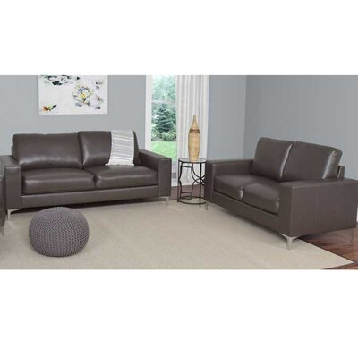 Greysen 2 Piece Sofa Set Upholstery: Brown