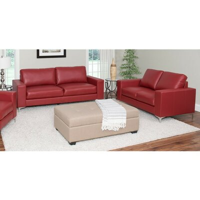 Greysen 2 Piece Sofa Set Upholstery: Red