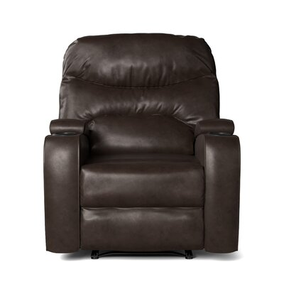 Ingram Manual Wall Hugger Recliner Upholstery: Brown
