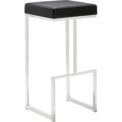 Henrique 29.5 inch Bar Stool Upholstery: Black