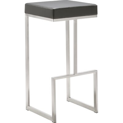 Henrique 29.5 Bar Stool Upholstery: Grey