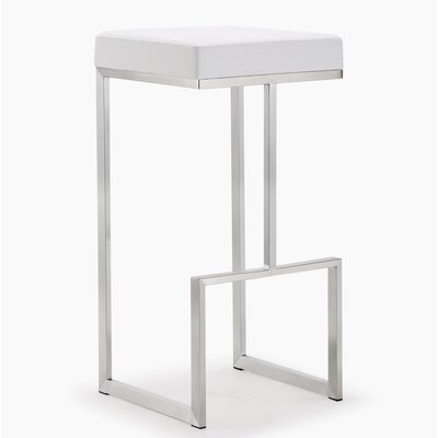 Henrique 29.5 Bar Stool Upholstery: White