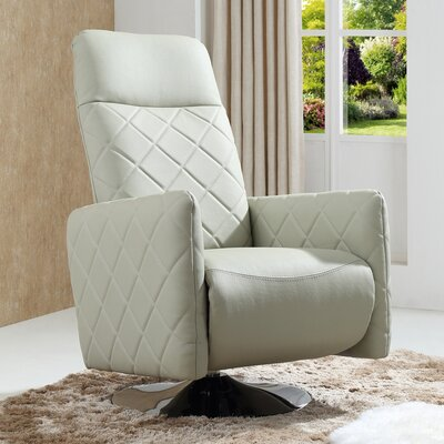 Baumeister Swivel Armchair Recliner Upholstery: Gray