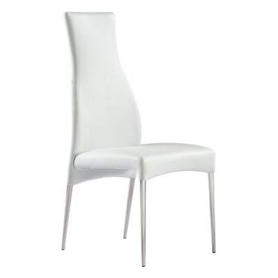 Beier Parsons Chair Upholstery: White