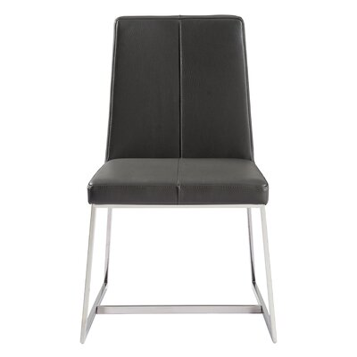 Aquino Parsons Chair Upholstery: Dark Gray